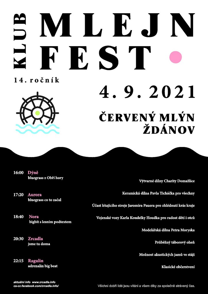 Plakát Mlejnfest 2021